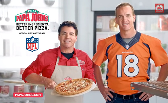Manning and Papa Johns