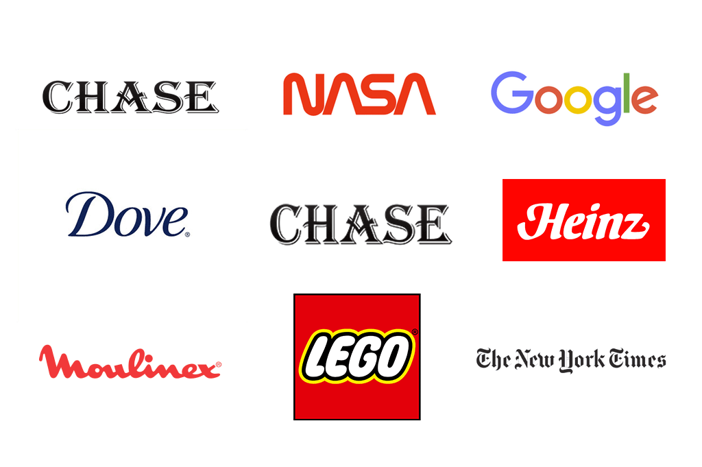 brand design in popular letter only logos
